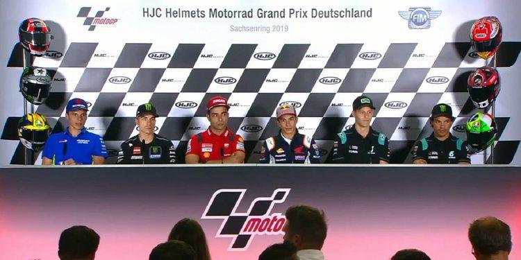 Rueda de prensa del GP de Alemania de MotoGP