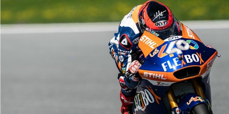Augusto Fernández sale vencedor de la carrera de Moto2 en Misano