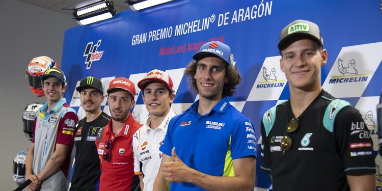 Rueda de prensa del Gran Premio de Aragón 2019