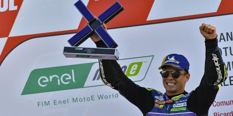 Eric Granado se hace con la penúltima carrera del año de MotoE