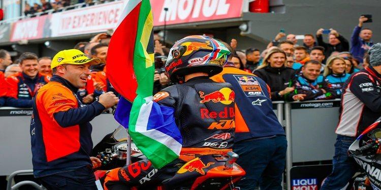 """Brad Binder: """"Quiero agradecer al equipo y a KTM todo el trabajo que han realizado durante todo el año"""""""