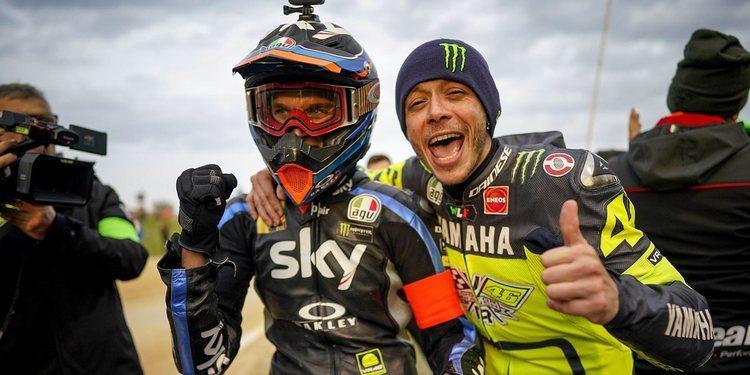Rossi, el más rápido en su rancho