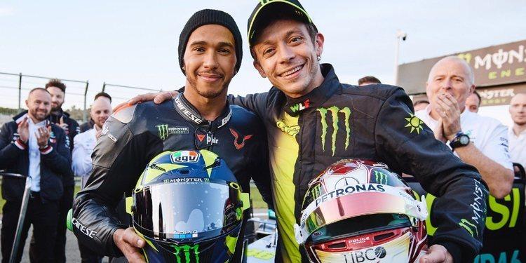 "Valentino Rossi: ""Realmente disfruté compartiendo esta experiencia con Lewis"""