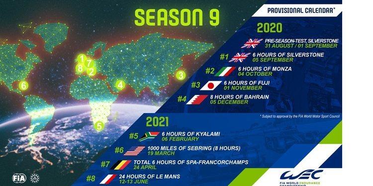 Calendario del WEC 2020-2021