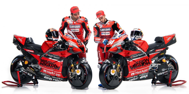 Ducati presenta la nueva Desmosedici GP20 en Bolonia