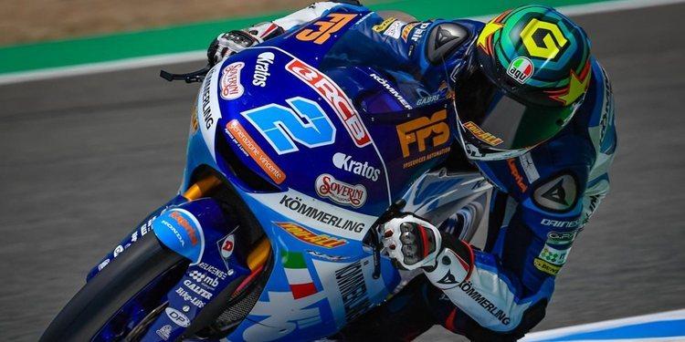 Gabriel Rodrigo lidera los libres de Moto3
