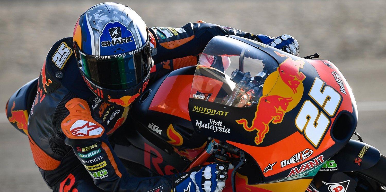 Raúl Fernández y Dominique Aegerter registran los mejores tiempos de Moto3 y MotoE
