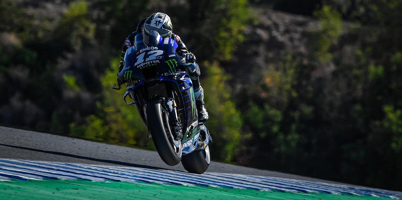 Maverick Viñales y Takaaki Nakagami lideran el viernes en Jerez