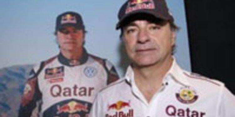 Carlos Sainz prueba el buggy en un test previo al inicio