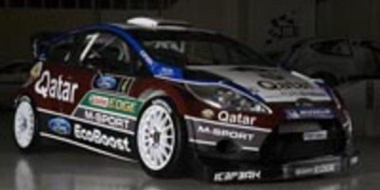 El Ford Fiesta del equipo M-Sport luce ya su nueva decoración