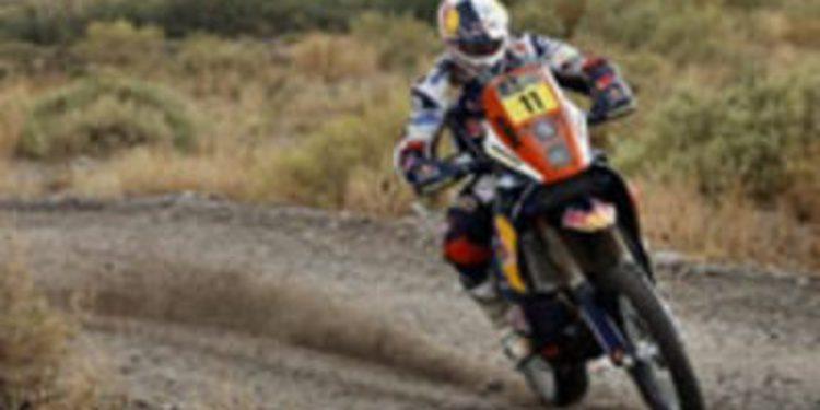 Dakar 2013, etapa 9: Faria consigue el liderato en motos. Nani Roma se apunta la segunda