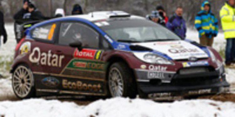 Sebastien Loeb escribe su guión en la etapa 1 del Rally de Monte-Carlo 2013