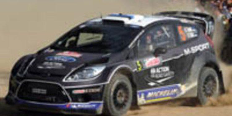 Ott Tänak compuesto y con un programa parcial en el WRC