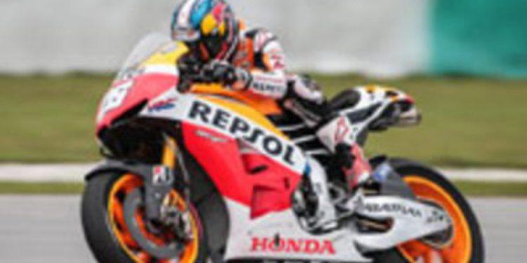 Dani Pedrosa también comanda la segunda jornada de test malayo