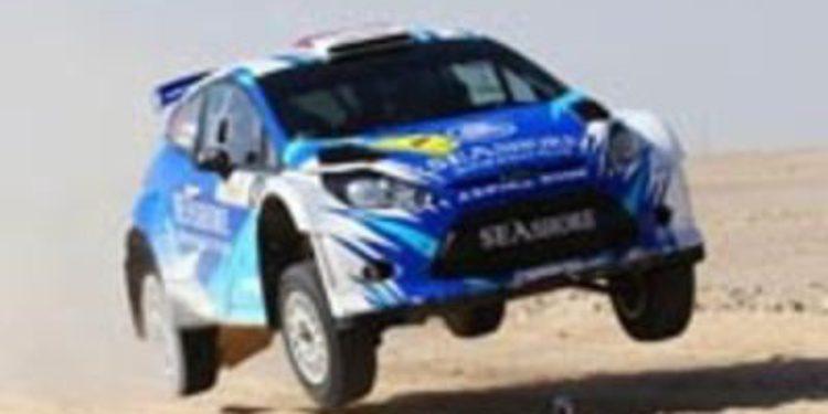 Abdulaziz Al-Kuwari en el WRC2 con un Fiesta RRC