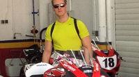 Michael Schumacher sobre una Honda CBR 1000RR en Valencia