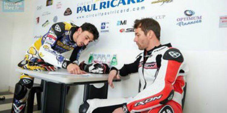 Sebastien Loeb prueba la Moto2 de Louis Rossi