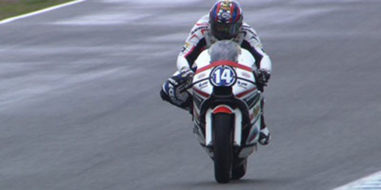 Test Moto2/Moto3 Jerez II: Redding y Miller sobreviven al agua