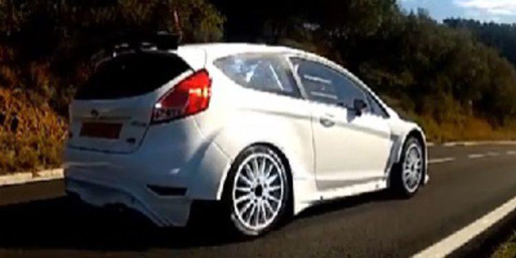 El Ford Fiesta R5 de test en Tarragona