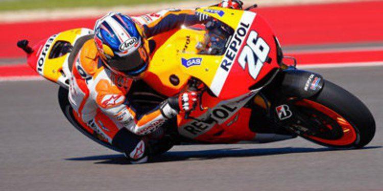 Dani Pedrosa al ataque en los FP3 de MotoGP en el COTA
