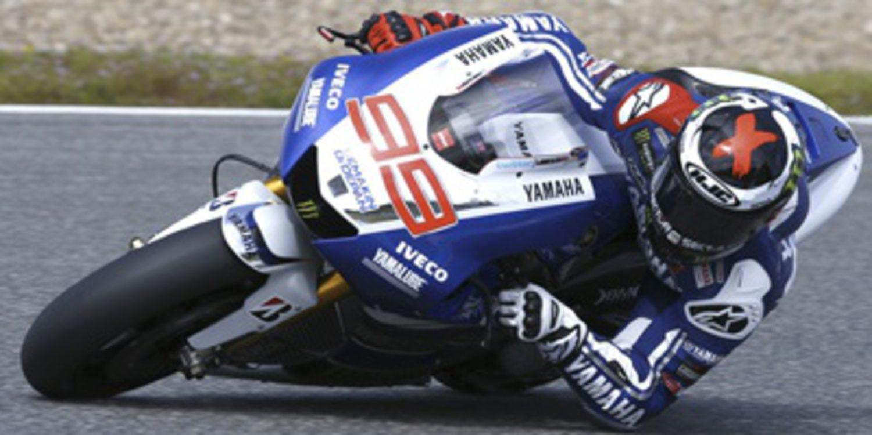 Jorge Lorenzo se anota los FP1 en Jerez por tres milésimas