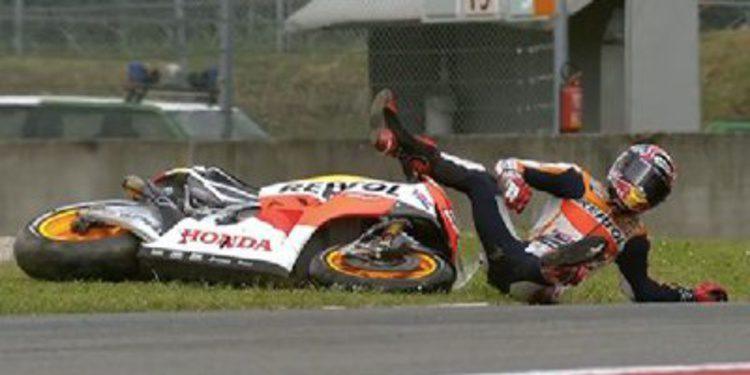 Marc Márquez se lleva los FP1 MotoGP de Mugello con caída