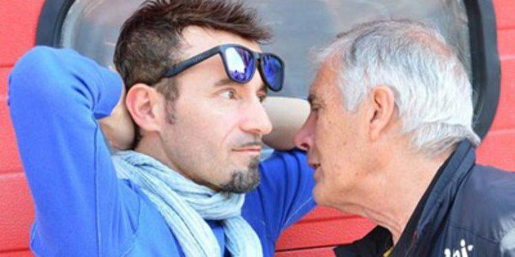 Max Biaggi a los mandos de la GP13 de Ben Spies