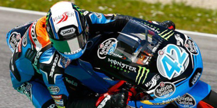 Alex Rins lidera con ritmo los FP3 Moto3 de Montmeló