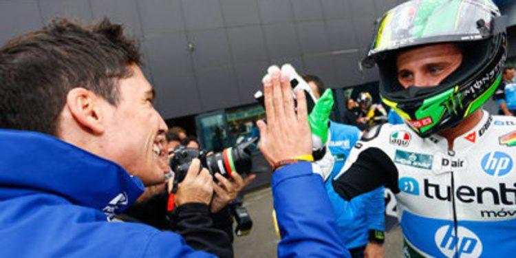 Pol Espargaró bate en Assen a Redding en duelo por Moto2