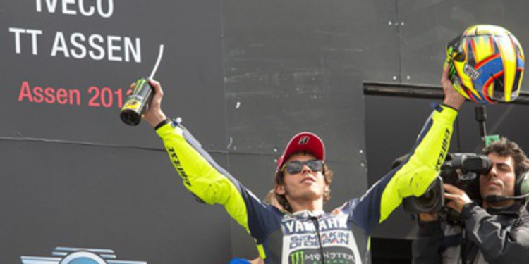 Valentino Rossi se fue de récords en Assen