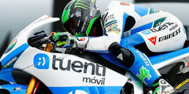 Pol Espargaró sobre Redding en los FP1 alemanes de Moto2