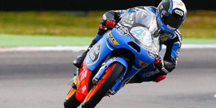 Alex Rins cierra el viernes de Moto3 en Sachsering arriba
