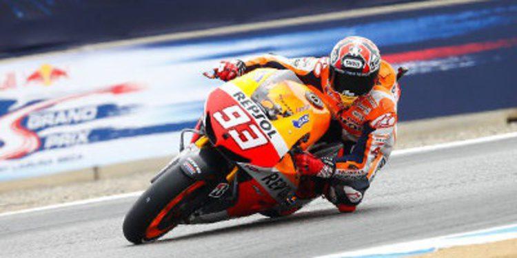Marc Márquez también lidera los FP3 de MotoGP en Laguna Seca