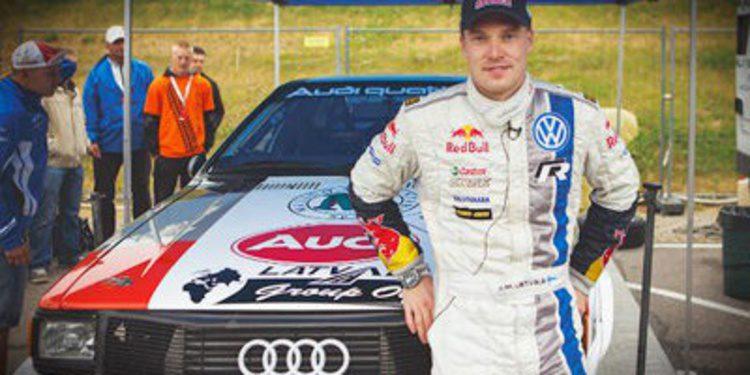 Jari-Matti Latvala con un Audi Quattro Grupo 4