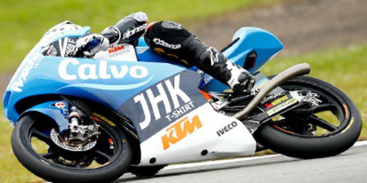 Mack Viñales al mando de los FP2 de Moto3 en Indy