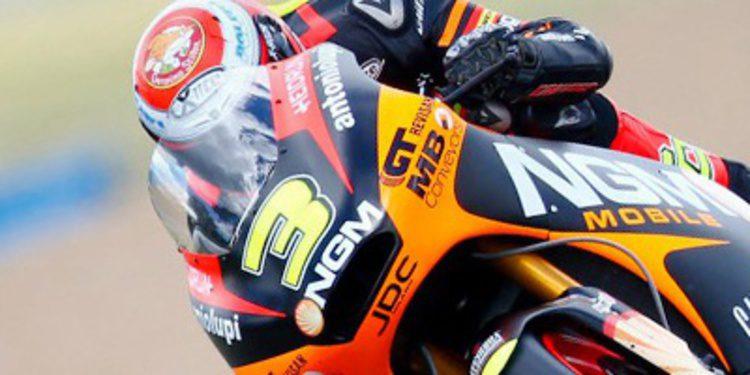 Simone Corsi cierra el viernes de Moto2 en Indy arriba