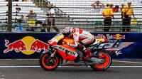 Marc Márquez también en el warm up de MotoGP en Indy