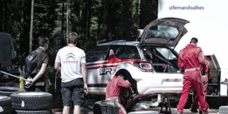 Kris Meeke y Dani Sordo prueban el Citroën DS3 R5