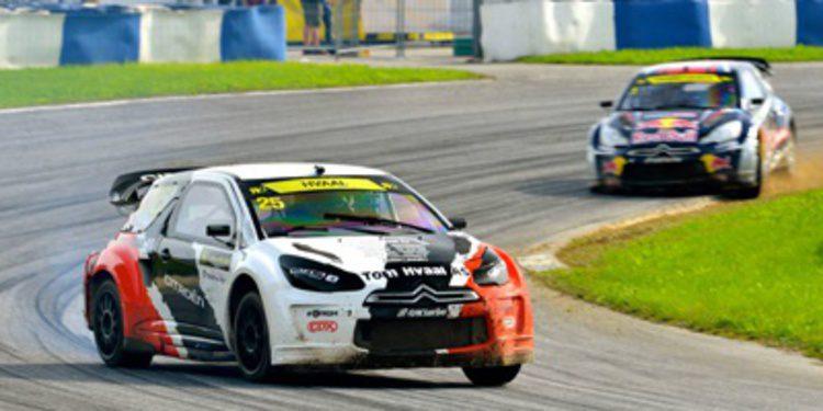 Alex Hvaal gana en Austria y Timur Timerzyanov roza el European Rallycross