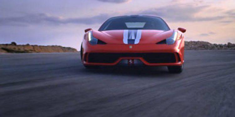 El Ferrari 458 Speciale en acción