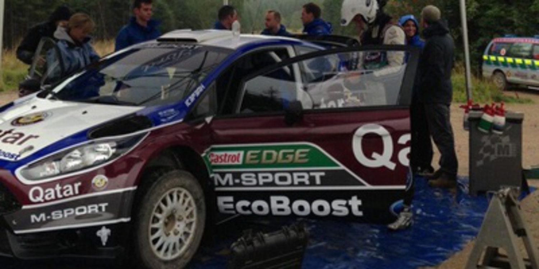 Thierry Neuville prueba el Ford Fiesta RS WRC de 2014