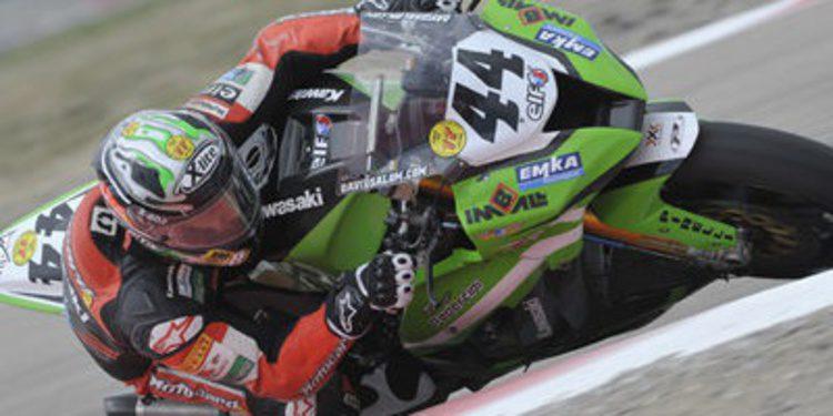 David Salom en la Kawasaki de Loris Baz para Laguna Seca