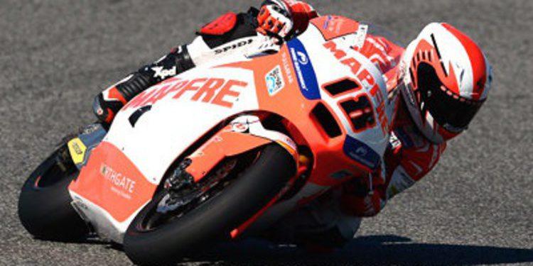 Nico Terol se regala los FP1 de Moto2 en Aragón