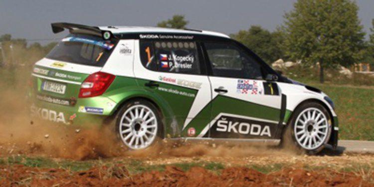 Jan Kopecký lider del Rally de Croacia a pesar de la lluvia