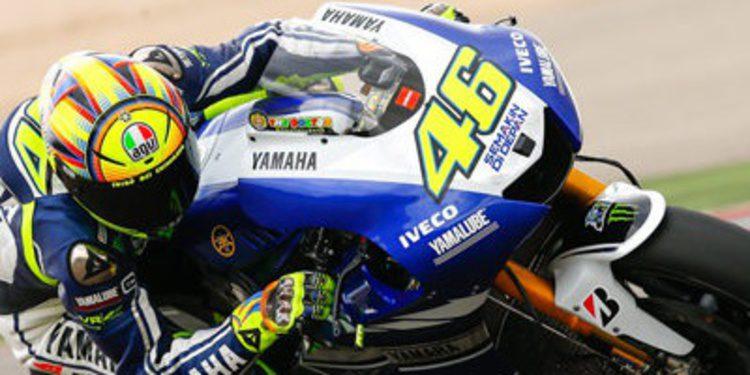 Valentino Rossi lidera los FP3 de MotoGP en Alcañiz