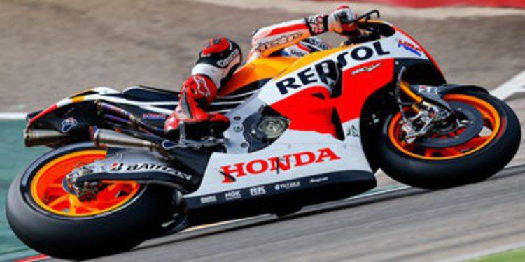 Marc Márquez pole de MotoGP en Aragón en duelo a cuatro