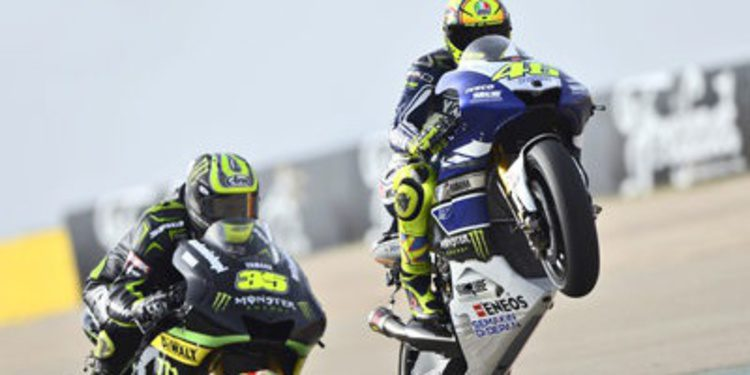 Rossi se anota el warm up de MotoGP en Alcañiz