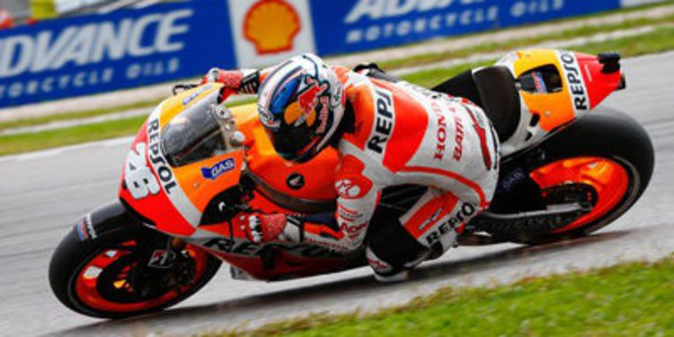 Dani Pedrosa gana el GP de Malasia de MotoGP a la fuga