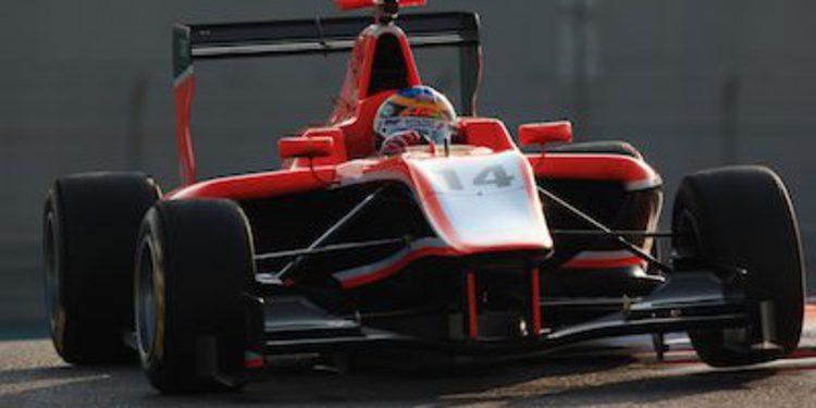 Oliver Rowland despunta en el segundo día de test de GP3 en Yas Marina