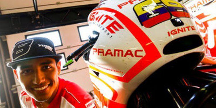 Yonny Hernández piloto de Pramac en MotoGP 2014